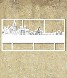 Skyline Maastricht wit groot kader