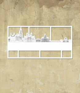 Skyline Maastricht wit klein kader