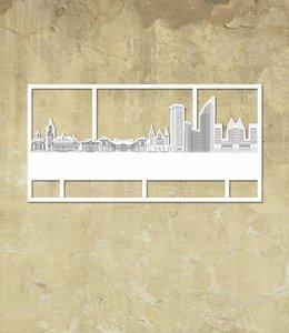 Skyline Den Haag wit klein kader