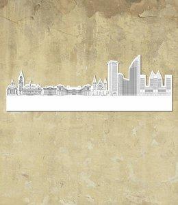 Skyline Den Haag wit groot vrijstaand