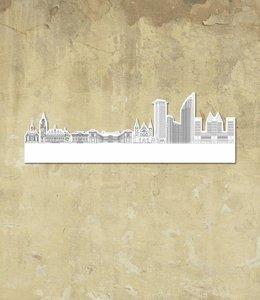 Skyline Den Haag wit klein vrijstaand