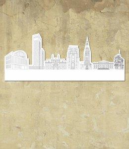 Skyline Leeuwarden wit groot vrijstaand