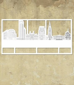 Skyline Leeuwarden wit groot kader