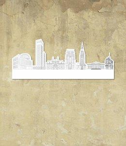 Skyline Leeuwarden wit klein vrijstaand