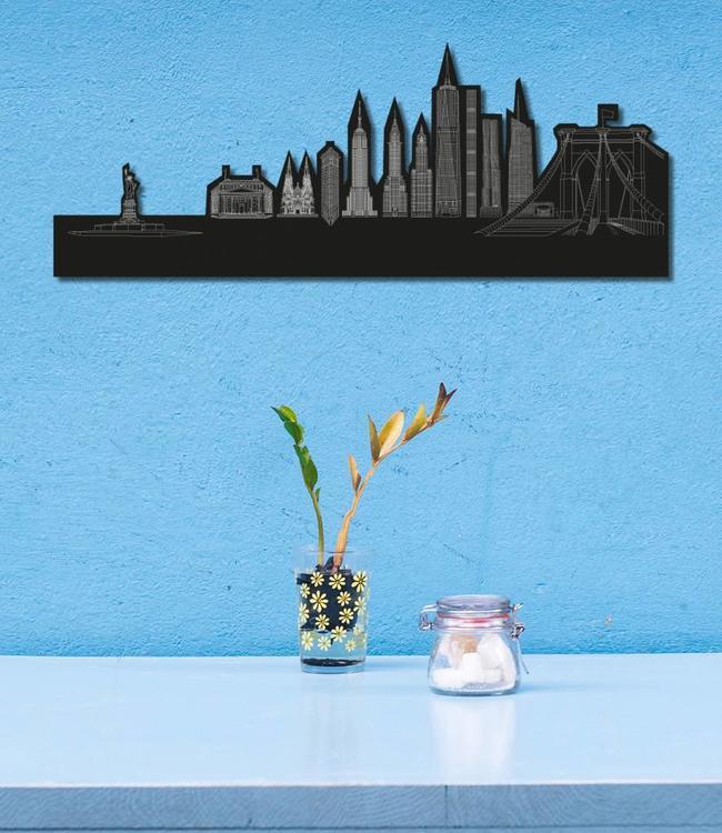 Skyline New York - Zwart vrijstaand klein