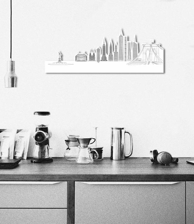 Skyline New York wit hdf vrijstaand klein
