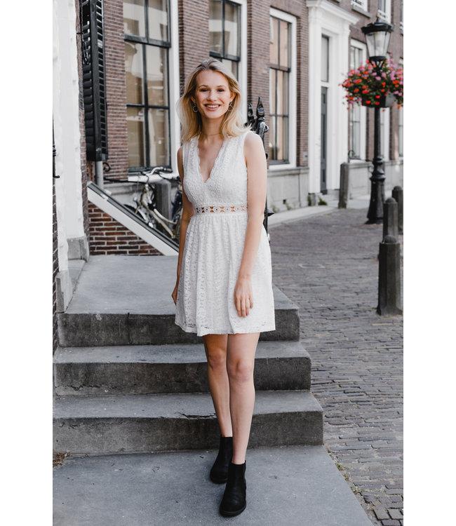 LACE DRESS WHITE MAAT S/M
