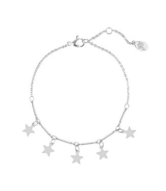 ARMBAND STAR FAMILY | ZILVER