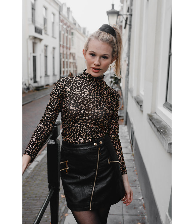 LEATHER LOOK SKIRT MAAT S