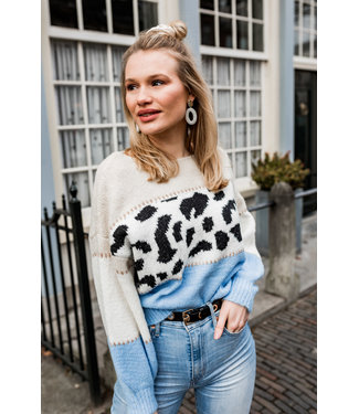 SWEATER BLUE LEOPARD