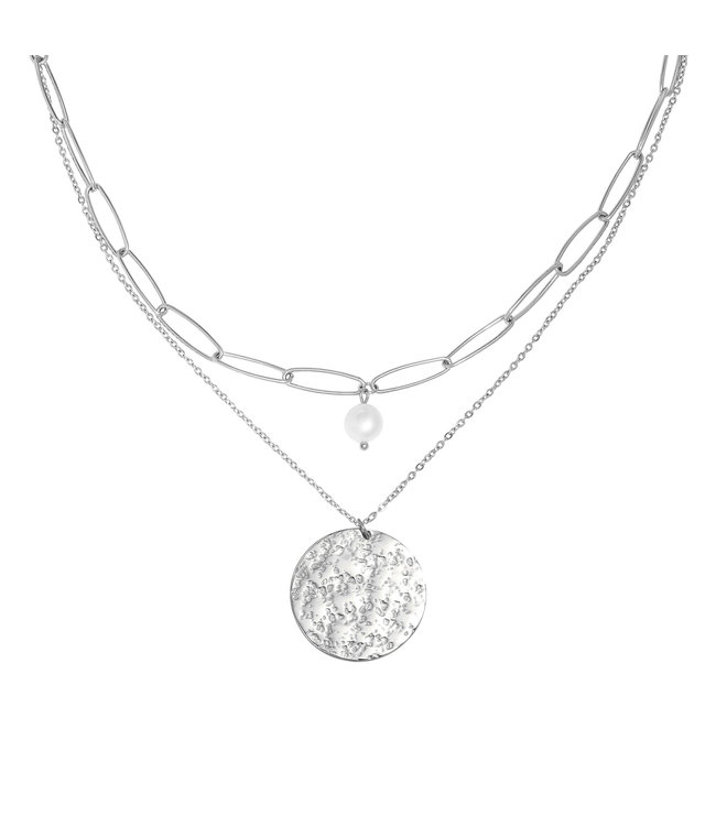 KETTING FULL MOON ZILVER