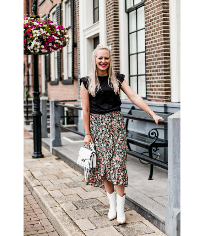 SKIRT LIZZY | BLACK FLOWERS