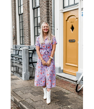 DRESS YARA | LILA FLOWERS