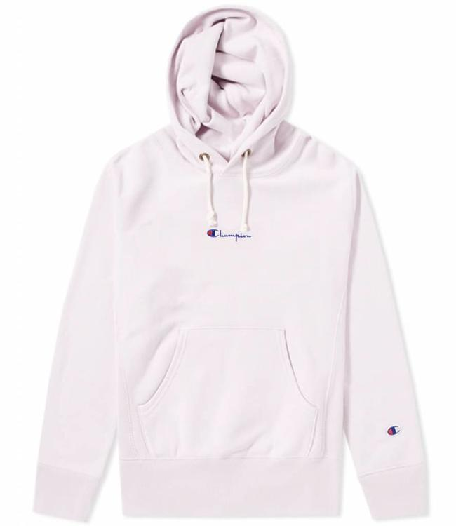 29c7cb53382b Champion Embroidered Small Script Logo Hoodie - GRAIL