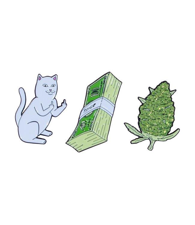 RipNDip Pu$$y Money Weed Pin