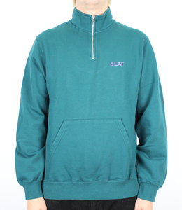 Olaf Hussein Tagged Zip Mock Sweater