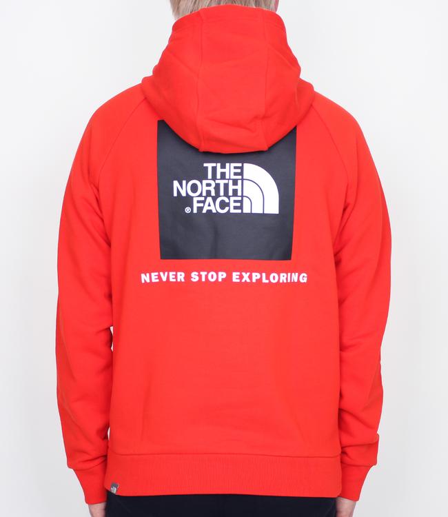The North Face Raglan Red Box Logo Hoodie