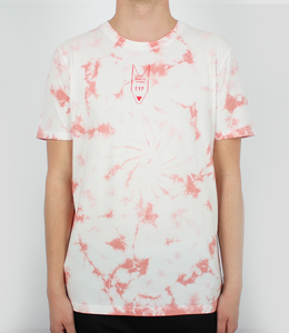 Red Outline Tie Dye Tee