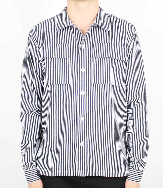 Woodbird Prizon Stripe Shirt