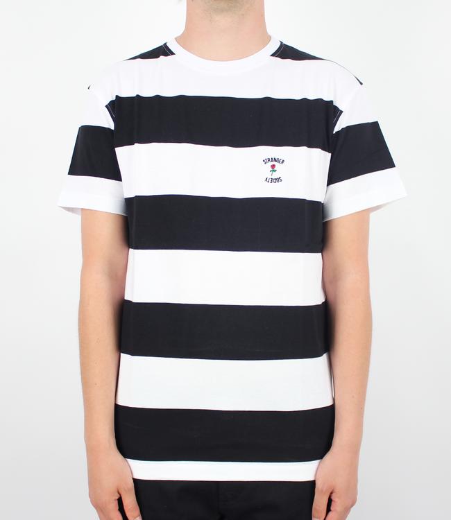 Stranger Society Crew Logo Stripe Tee Black