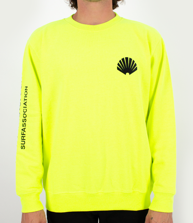New Amsterdam Surf Association Logo Sweater Safety Green