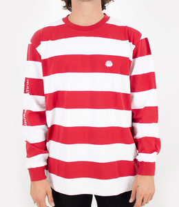 New Amsterdam Surf Association Breton Longsleeve Red/White