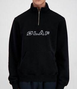 Olaf Hussein Zip Mock Sweater