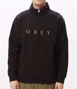 Obey Lassen mock neck zip