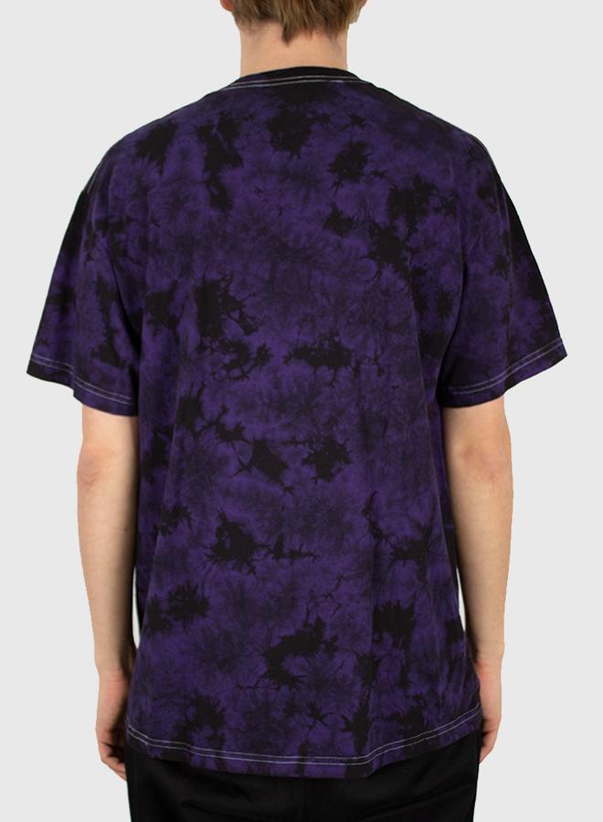 Black Aroma Crystal Dye Shirt Black / Purple