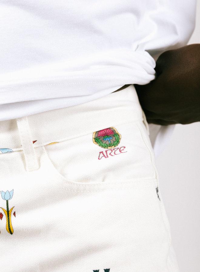 Jean Logo Pants White AOP