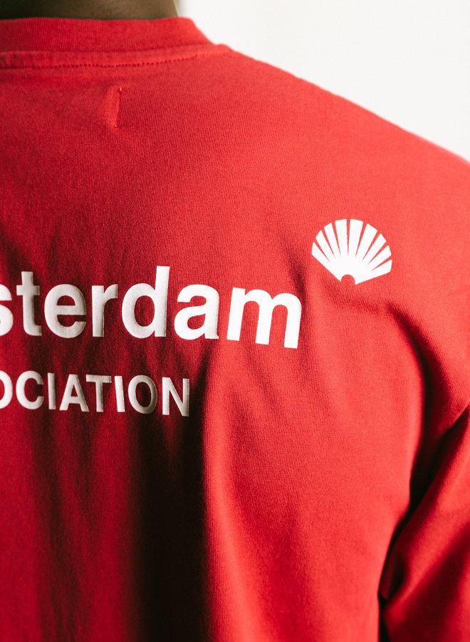 Logo Tee Aw21 Crimson White
