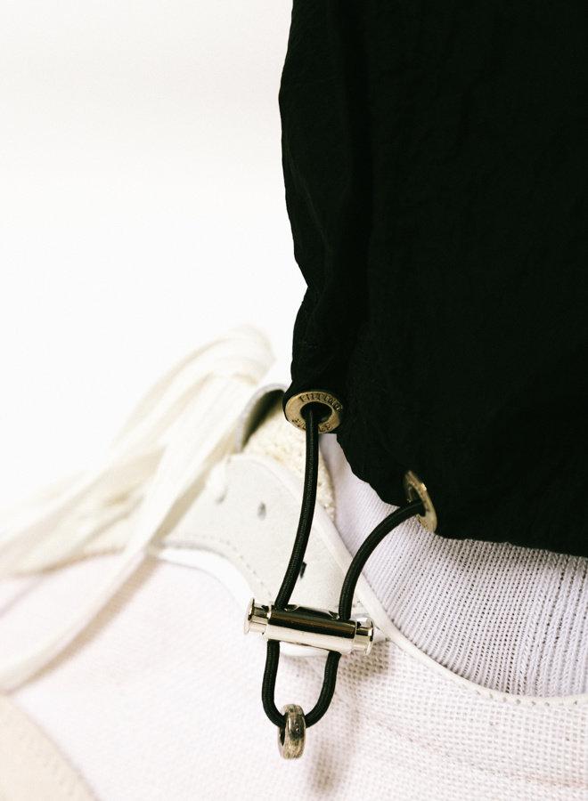 Nylon Cord Pants Black