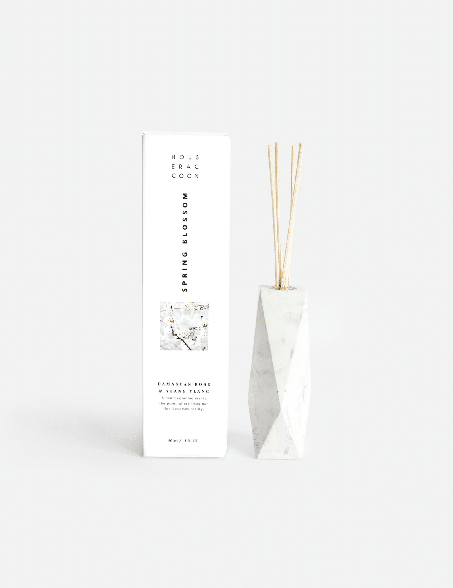 House Raccoon Amava Scent Diffuser - Spring Blossom - white
