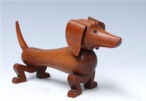 Kay Bojesen Dog - oiled walnut