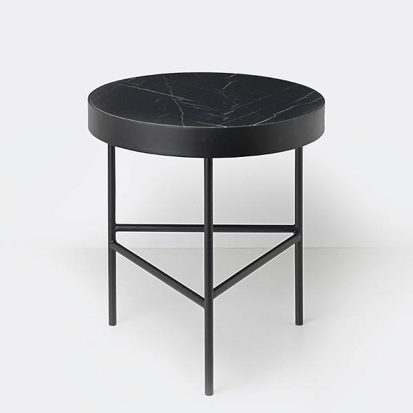 Ferm Living Marble Table - Black Marquina - Medium