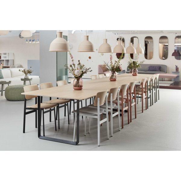 Ferm Living 70/70 tafel eik/ zwart 225 x 90