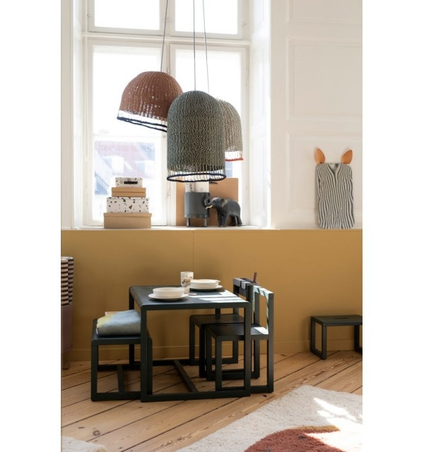 Ferm Living Braided Lampshade - Dusty Green - Tall