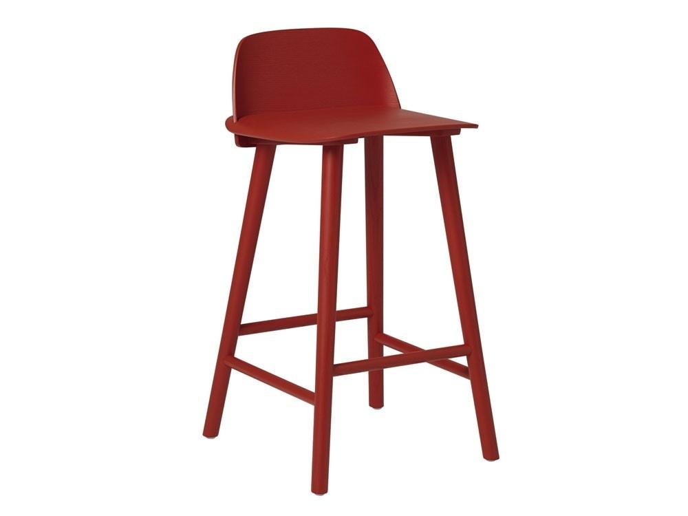 Muuto NERD BAR STOOL / H: 65 CM / H: 65 CM - Red