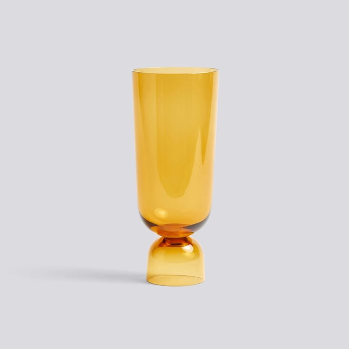 HAY NEW BOTTOMS UP VASE / L AMBER