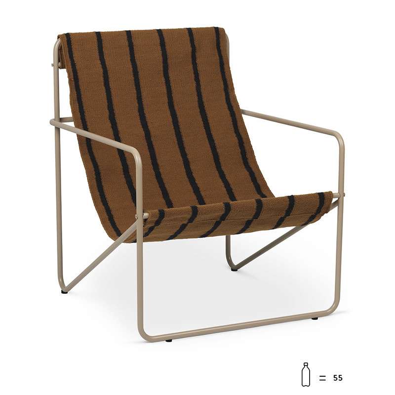 Ferm Living DESERT FAUTEUIL stripe / cashmere