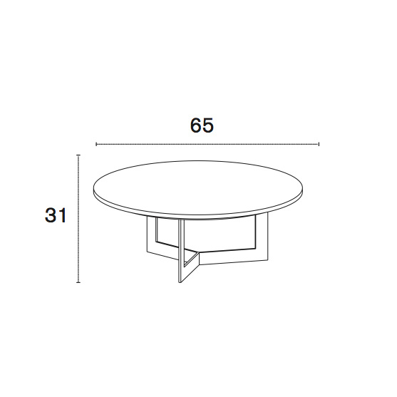 Treku Kabi Coffeetable H31cm diameter 65cm laquered/wood