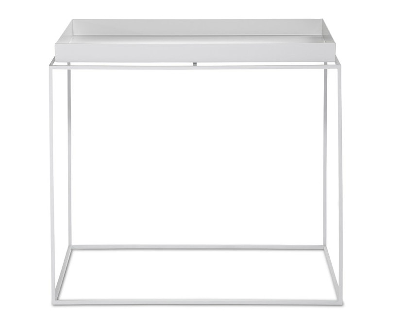 HAY Tray Side Table Large - White - L40xW60xH54