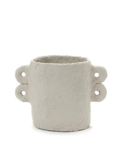 Serax Serax pot Marie Paper Maché - Beige - d18cm x h20,5cm