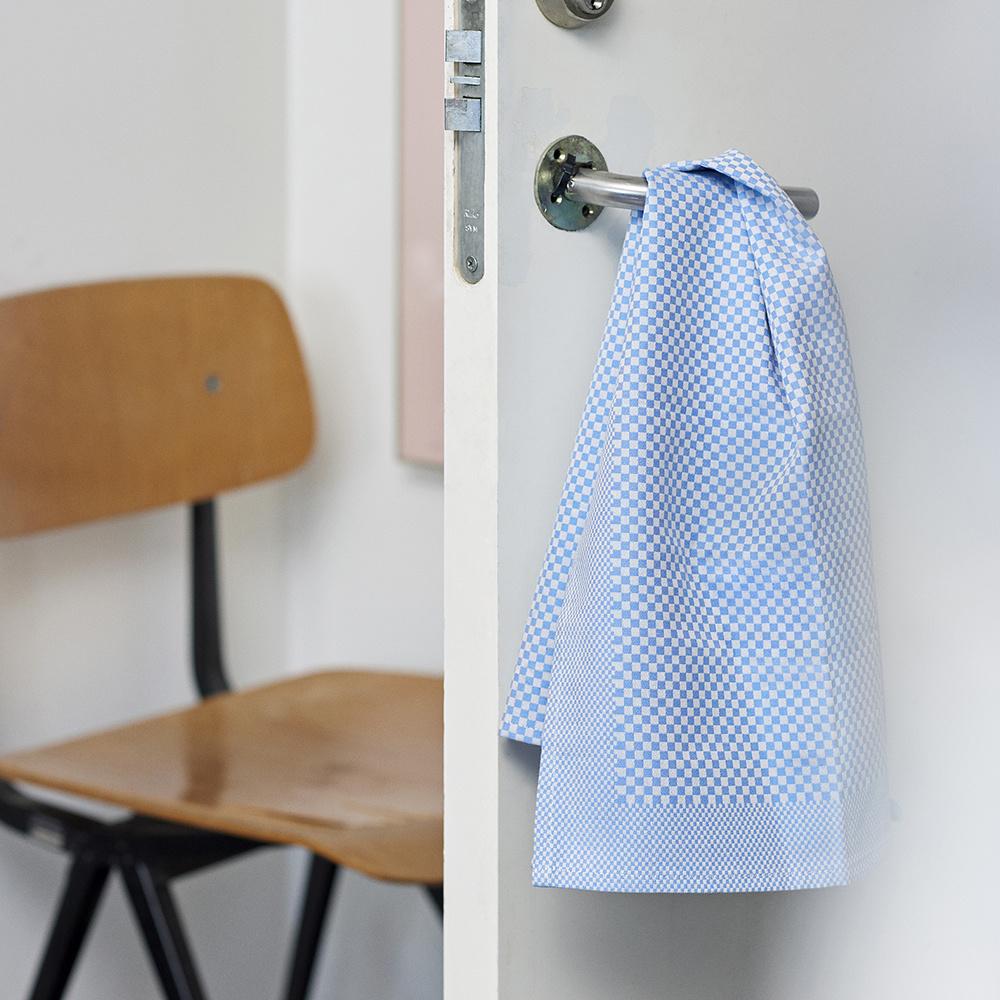 HAY TEA TOWEL / CHECK 2 PCS LIGHT BLUE
