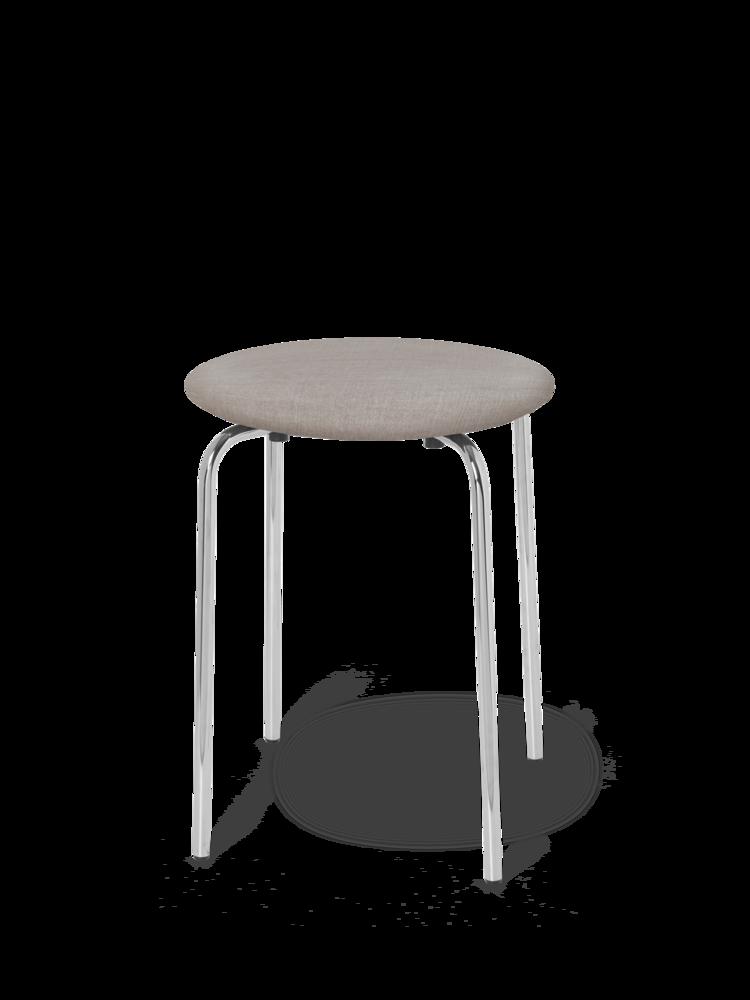 Ferm Living Herman stool- chrome- cotton- natural