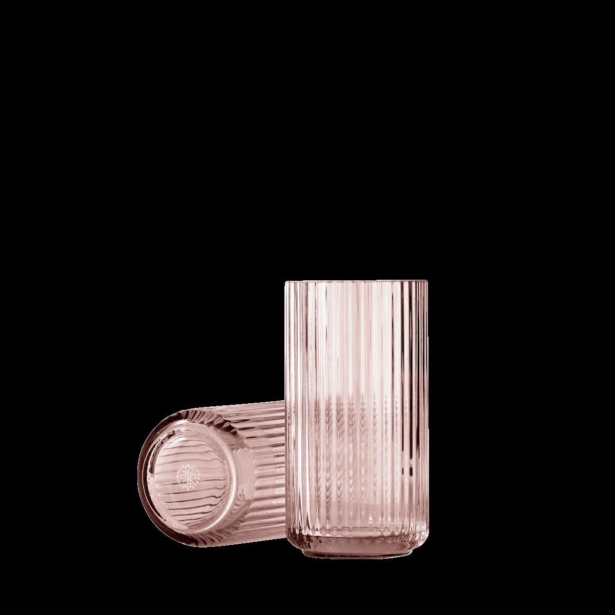Lyngby Porcelaen Lyngbyvase H20 cm - Burgundy - Mouth blown glass