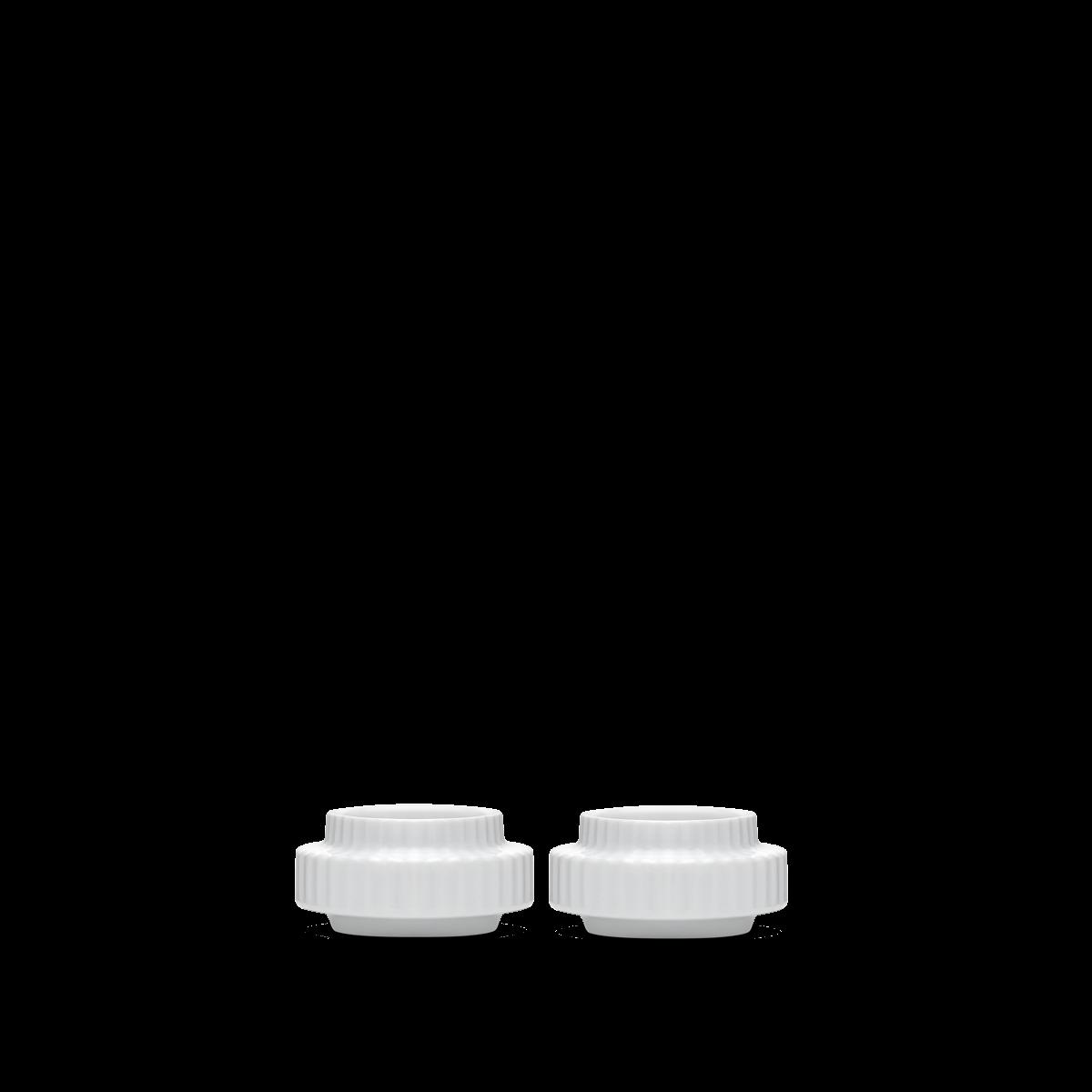 Lyngby Porcelaen lyngby tealight holders set of 2 - white porcelain