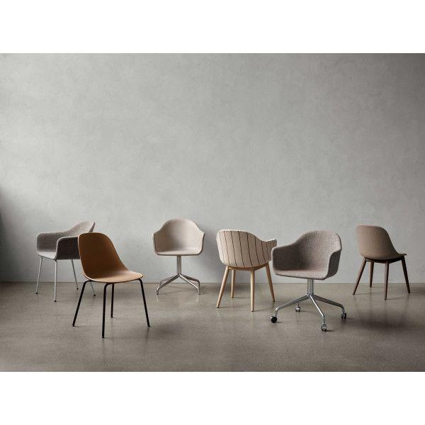 Menu Harbour Side Dining Chair - black steel/black