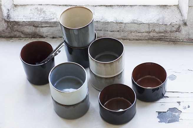 Serax Anita Le Grelle - Goblet Cylinder Low (d7,5cm, h5cm) - Misty Grey/Smokey Blue
