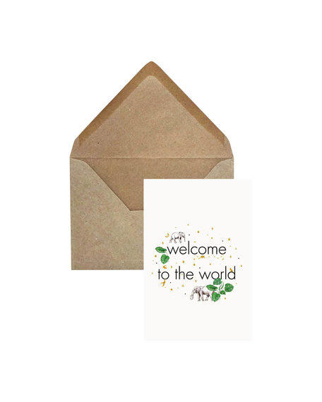 Creative Lab Amsterdam Welcome to the world card